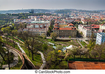 Aerial view of Prague