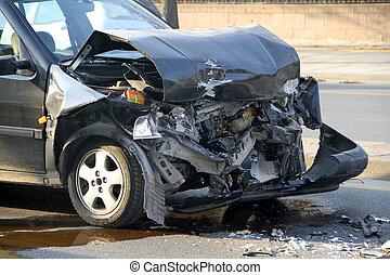 Car Involved In Traffic Accident