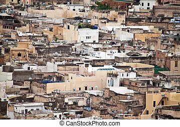 Aerial view of Fes, Morocco