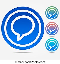 Talk bubble icon