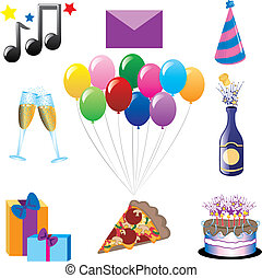 Party Icons - Vector can be used for any type of party or...