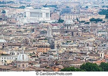 Aerial view of Rome