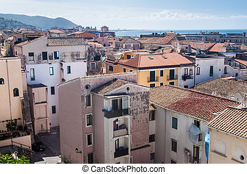 Houses in Salerno - Aerial view of Salerno, Italy