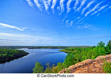 Rock Structure - View of rock structure in Ontario Canada