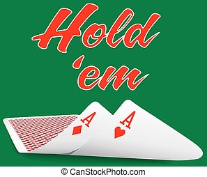 Holdem Poker pair ace cards under - Pair of aces under as...