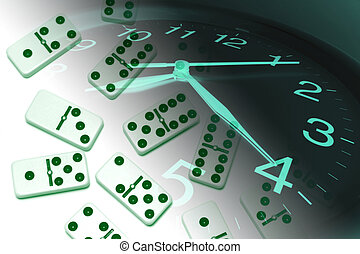 Clock and Dominoes - Composite of Clock and Dominoes