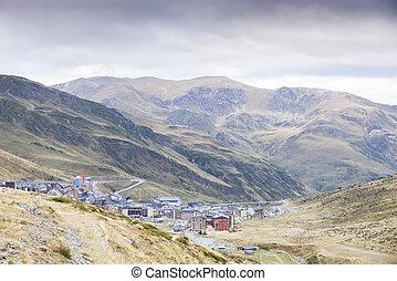 town of Pas de la Casa in Andorra La Vella