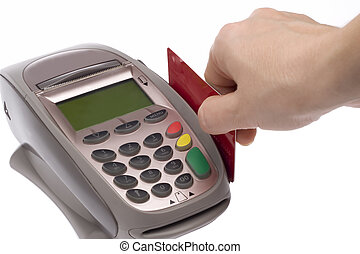 Credit Card 6 - Swiping of the credit card for payment...