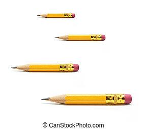 shortinho, lápis