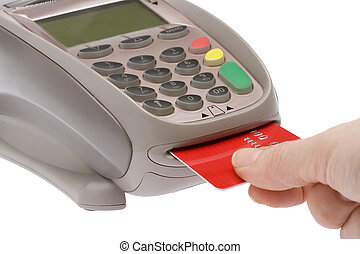 Credit Card 5 - Swiping of the credit card for payment...