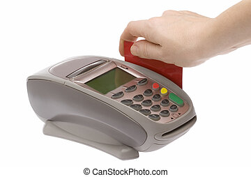 Credit Card 2 - Swiping of the credit card for payment...