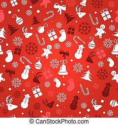 Christmas background, seamless tiling, great choice for...