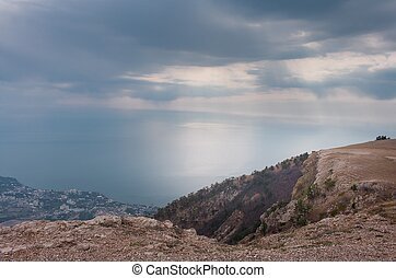 Ai-Petri Crimea landscape. View of Big Yalta