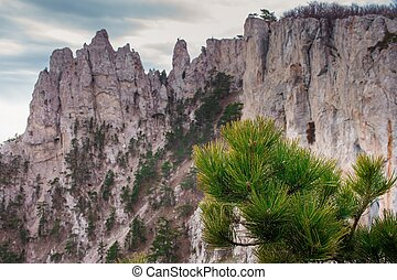 Ai-petri Crimea Landscape - Ai-Petri is a peak in the...