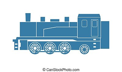 Steam locomotive for industrial and shunting tasks. Vector...