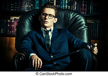 respectable boy - Respectable handsome man in his office...