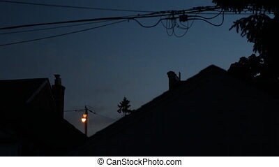 Dusk to night in Suburbia. - Dusk to night in the suburbs....