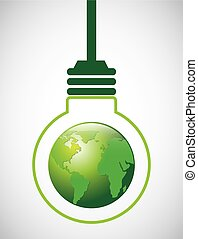 eco design - eco design , vector illustration