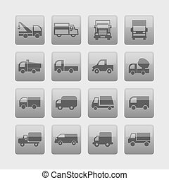 Truck icons - Truck car auto vector icon set