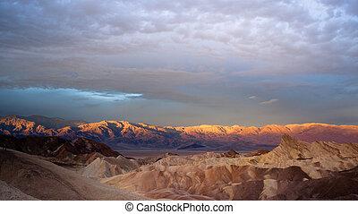 Sunrise Badlands Amargosa Mountain Range Death Valley...