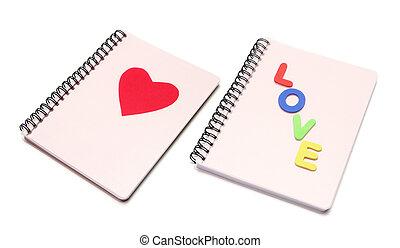 I Love You Note Books