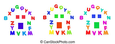 Alphabets in Shape of House