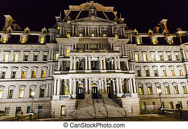 Old Executive Office Building Night Washington DC