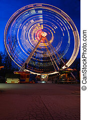 Festival wheel - One of the crazy festival ferris wheels in...