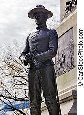 Soldier Statue General William Tecumseh Sherman Civil War Memori