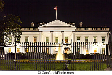 White House Night Pennsylvania Ave Washington DC -...