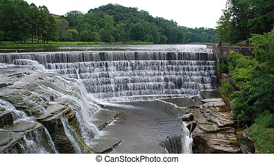 Waterfall - Water fall in Cornell University Ithaca, New...