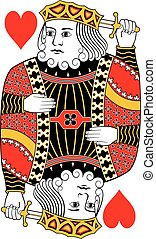 King of hearts no card - King of hearts without playing card...