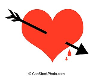 Heart Arrow Vector Shape - Abstract Heart Arrow Vector Shape...