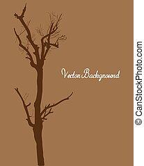 Dead Tree Silhouette - Abstract Retro Spooky Halloween Dead...