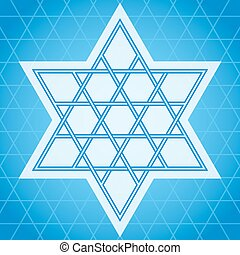 Star symbol - Traditional oriental tangled six-rays star...
