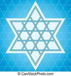 Star symbol - Traditional oriental tangled six-rays star...