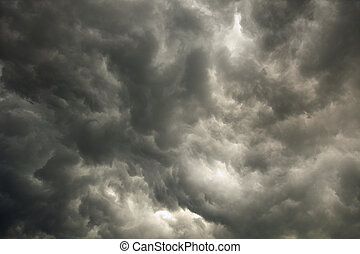 Sky with storm dark clouds - The summer sky with storm dark...