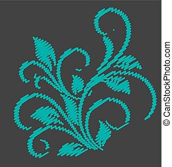 Abstract Scribble Flourish Design