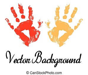 Hand Prints Vector Background