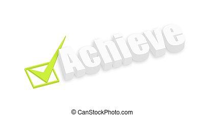 Achieve 3d Text