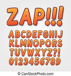 Abstract Comic Pop Art Alphabet