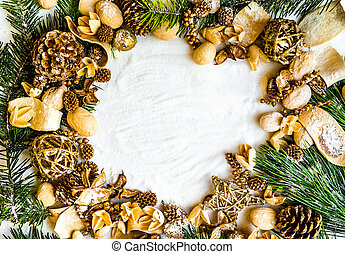 background with Christmas decorations - background with...