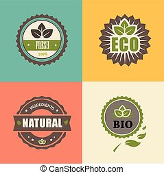 BIO stamp ECO, ORGANIC Labels Collection.