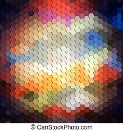 Colorful geometric background, abstract hexagonal pattern...