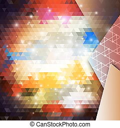 Abstract colored background, triangle design vector...
