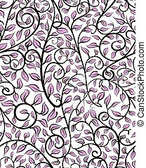 Seamless Pattern With Leaves - Seamless pattern tile with...