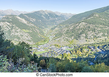 city of Andorra La Vella - city of Andorra La Vella view...