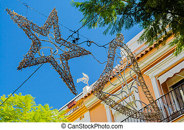 Christmas Time In The Tropics - The decorations are on their...
