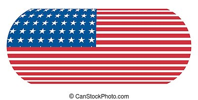 USA Flag Banner - Abstract Design of USA Flag Banner Vector...