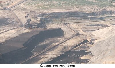 Open Coal Mining in Germany - Video footage of a open Coal...